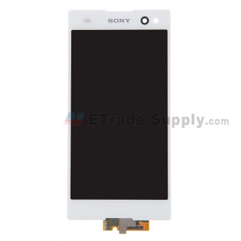 For Sony Xperia C3 LCD Screen and Digitizer Assembly Replacement - White - With Logo - Grade S+