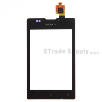 For Sony Xperia E C1505 Digitizer Touch Screen Replacement - Black - With Logo - Grade S+