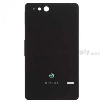 For Sony Xperia go ST27i Battery Door Replacement - Black - Grade S+