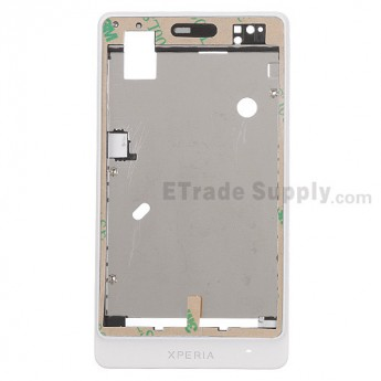 For Sony Xperia go ST27i Front Housing Replacement - White - Grade S+