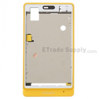 For Sony Xperia go ST27i Front Housing Replacement - Yellow - Grade S+