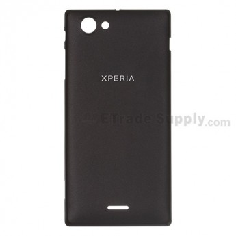 For Sony Xperia J ST26i Battery Door  Replacement ,Black - Grade S+