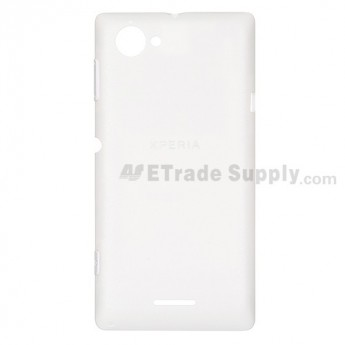 For Sony Xperia L S36h C2104, C2105 Battery Door  Replacement - White - with Logo - Grade S+