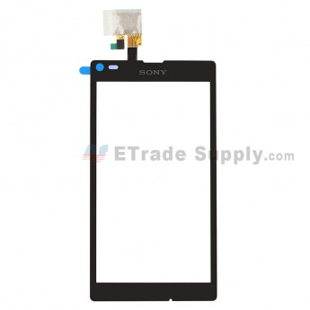 For Sony Xperia L S36h C2104, C2105 Digitizer Touch Screen Replacement - Black - Grade S+