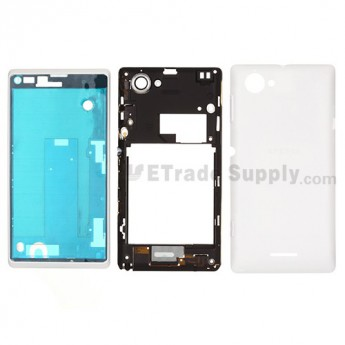 For Sony Xperia L S36h C2104, C2105 Housing Replacement - White - Grade S+