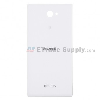 For Sony Xperia M2 Battery Door Replacement - White - With Logo - Grade S+