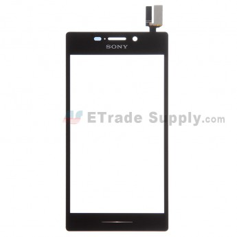 For Sony Xperia M2 Digitizer Touch Screen Replacement - Black - With Logo - Grade S+
