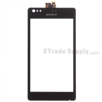 For Sony Xperia M C1905 Digitizer Touch Screen Replacement - Black - With Logo - Grade S+