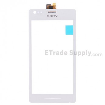 For Sony Xperia M C1905 Digitizer Touch Screen Replacement - White - With Logo - Grade S+
