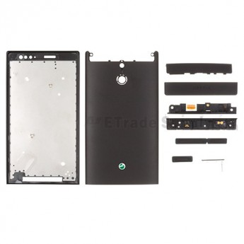 For Sony Xperia P LT22i Complete Housing Replacement ,Black - Grade S+