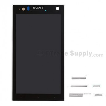For Sony Xperia S LT26i LCD Screen and Digitizer Assembly with Front Housing Replacement ,White - Grade S+