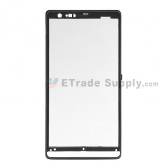 For Sony Xperia SP M35h Front Housing Replacement - Black - Grade S+