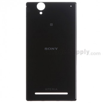 For Sony Xperia T2 Ultra Battery Door  Replacement - Black - Grade S+