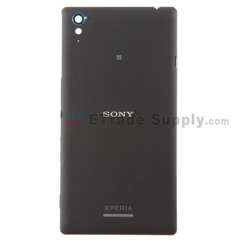 For Sony Xperia T3 Battery Door Replacement - Black - With Logo - Grade S+