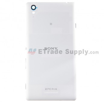 For Sony Xperia T3 Battery Door Replacement - White - With Logo - Grade S+