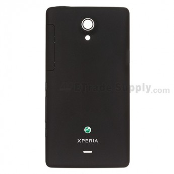 For Sony Xperia T LT30p Battery Door Replacement ,Black - Grade S+