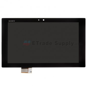 For Sony Xperia Tablet Z LCD Screen and Digitizer Assembly Replacement - Black - With Logo - Grade S+