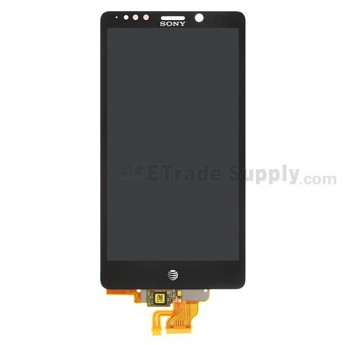 For Sony Xperia TL LT30AT LCD Screen and Digitizer Assembly Replacement - Black - With Logo - Grade S+
