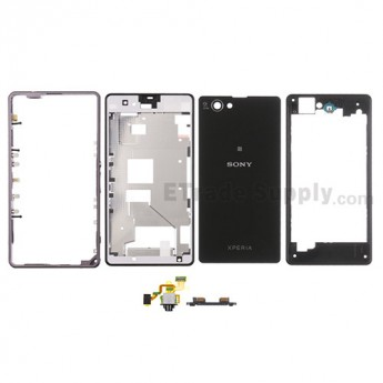 For Sony Xperia Z1 Compact Housing Replacement - Black - With Logo - Grade S+