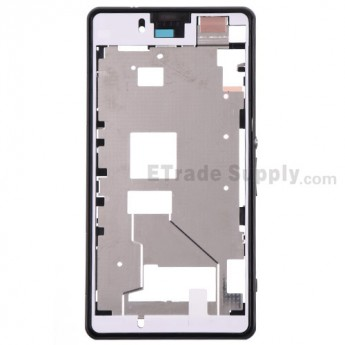 For Sony Xperia Z1 Compact Middle Plate Assembly Replacement - Black - Grade S+