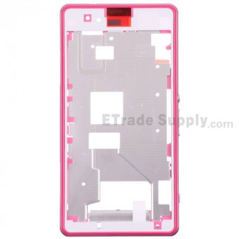 For Sony Xperia Z1 Compact Middle Plate Assembly Replacement - Pink - Grade S+