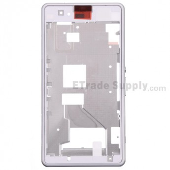 For Sony Xperia Z1 Compact Middle Plate Assembly Replacement - White - Grade S+