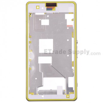 For Sony Xperia Z1 Compact Middle Plate Assembly Replacement - Yellow - Grade S+