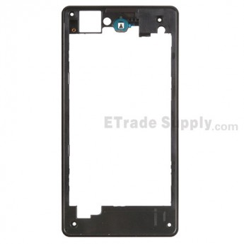 For Sony Xperia Z1 Compact Rear Housing Replacement - Black - Grade S+