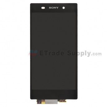 For Sony Xperia Z1 L39h LCD Screen and Digitizer Assembly Replacement - Black - With Logo - Grade S+