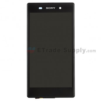 For Sony Xperia Z1 L39h LCD Screen and Digitizer Assembly with Front Housing Replacement - Black - Grade S+