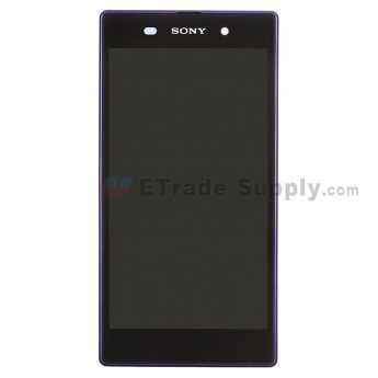 For Sony Xperia Z1 L39h LCD Screen and Digitizer Assembly with Front Housing Replacement - Purple - Grade S+
