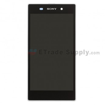 For Sony Xperia Z1 L39h LCD Screen and Digitizer Assembly with Front Housing Replacement - White - Grade S+