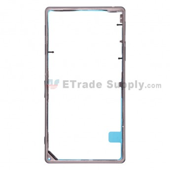 For Sony Xperia Z1 L39h Middle Frame Replacement - Black - Grade S+