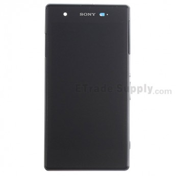 For Sony Xperia Z1S C9616 LCD Screen and Digitizer Assembly with Front Housing Replacement - Black - With Logo - Grade S+