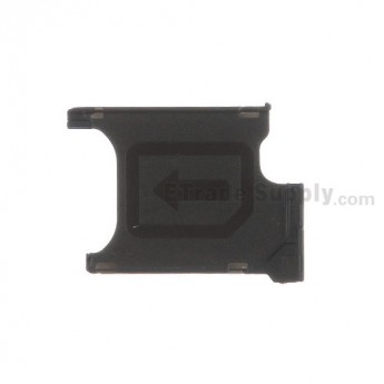 For Sony Xperia Z1S C9616 SIM Card Tray Replacement - Black - Grade S+