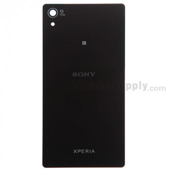 For Sony Xperia Z2 Battery Door Replacement - Black - With Logo - Grade S+