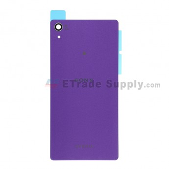 For Sony Xperia Z2 Battery Door Replacement - Purple - With Logo - Grade S+