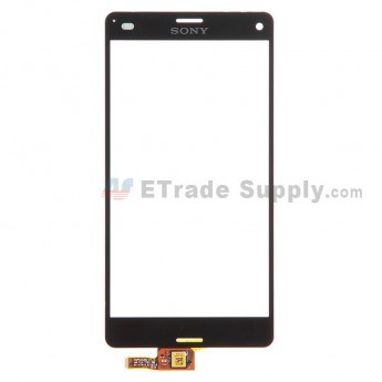 For Sony Xperia Z3 Compact Digitizer Touch Screen Replacement - Black - With Logo - Grade S+