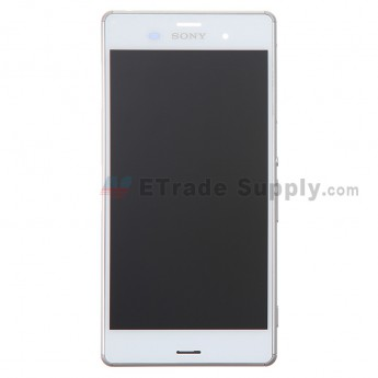 For Sony Xperia Z3 LCD Screen and Digitizer Assembly with Front Housing Replacement - White - With Logo - Grade S+