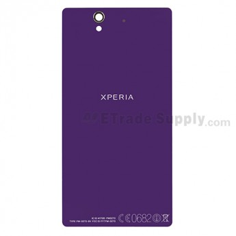 For Sony Xperia Z L36h Battery Door Replacement (Non NFC Version) - Purple - With Logo - Grade S+