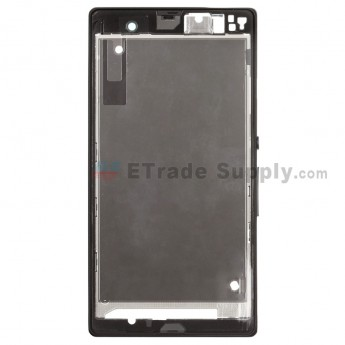For Sony Xperia Z L36h Front Housing Replacement ,Black - Grade S+