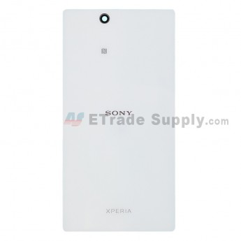 For Sony Xperia Z Ultra XL39h Battery Door Replacement - White - With Logo - Grade S+