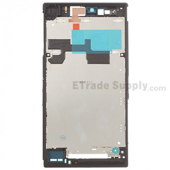 For Sony Xperia Z Ultra XL39h Front Housing Replacement - Black - Grade S+