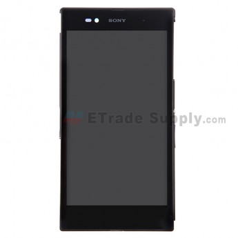For Sony Xperia Z Ultra XL39h LCD Screen and Digitizer Assembly With Front Housing Replacement - Black - Grade S+