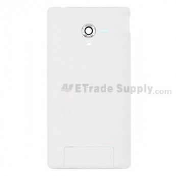 For Sony Xperia ZL L35h Battery Door Replacement - White - Grade S+