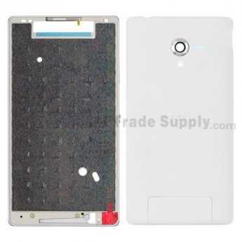 For Sony Xperia ZL L35h Complete Housing Replacement ,White - Grade S+