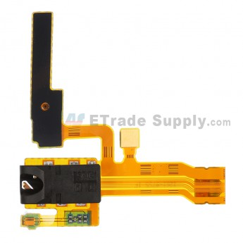 For Sony Xperia ZL L35h Earphone Jack Flex Cable Ribbon Replacement - Grade S+