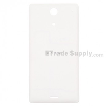 For Sony Xperia ZR M36h Battery Door Replacement - White - With Logo - Grade S+