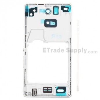 For Sony Xperia ZR M36h Front Housing Replacement - White - Grade S+