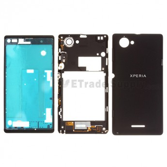 For Sony Xperia L S36h C2104, C2105 Housing Replacement - Black - Grade S+